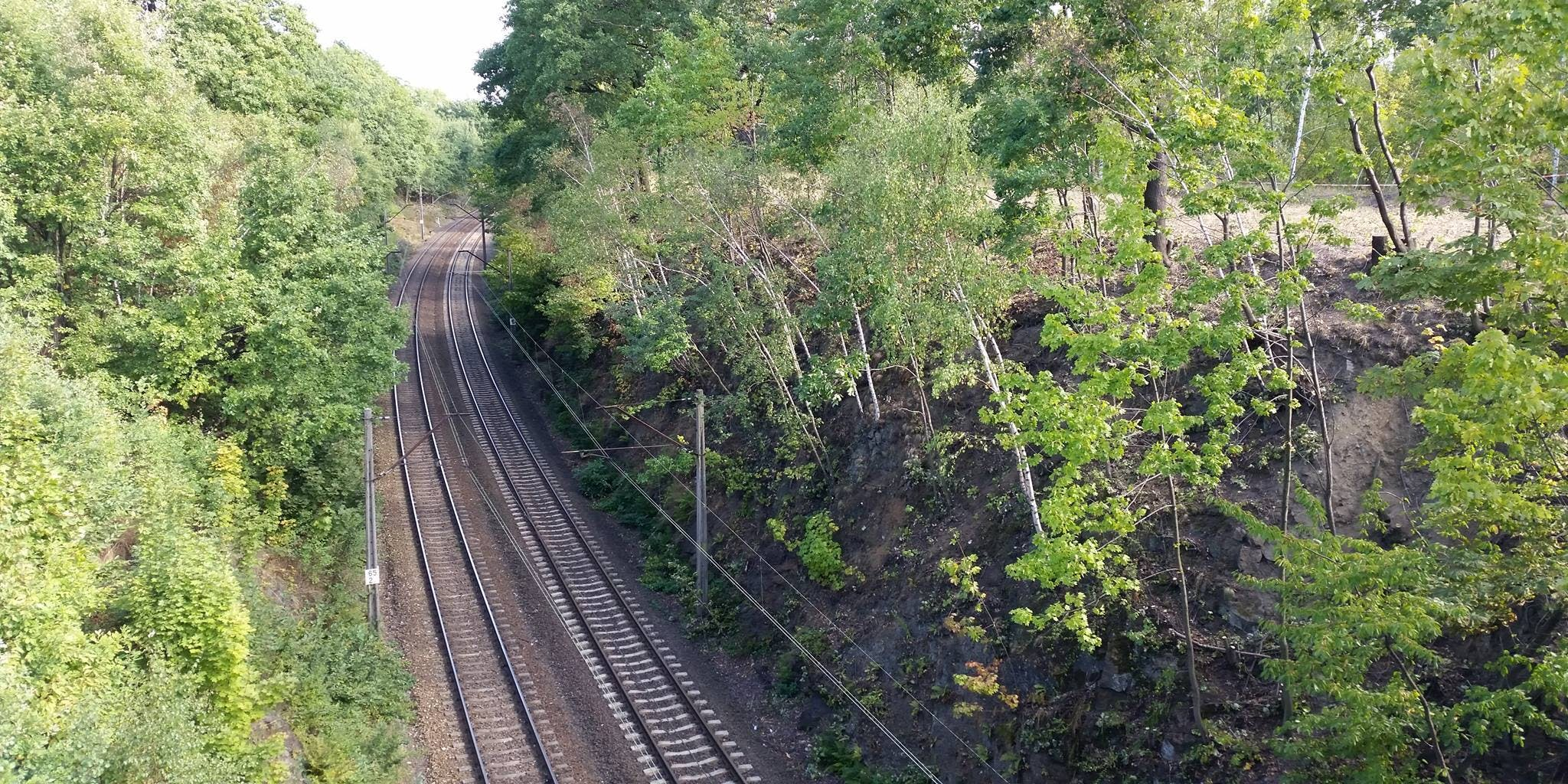 Beneath these tracks are the supposed hiding place of the Gold Train in Wałbrzych, Poland.