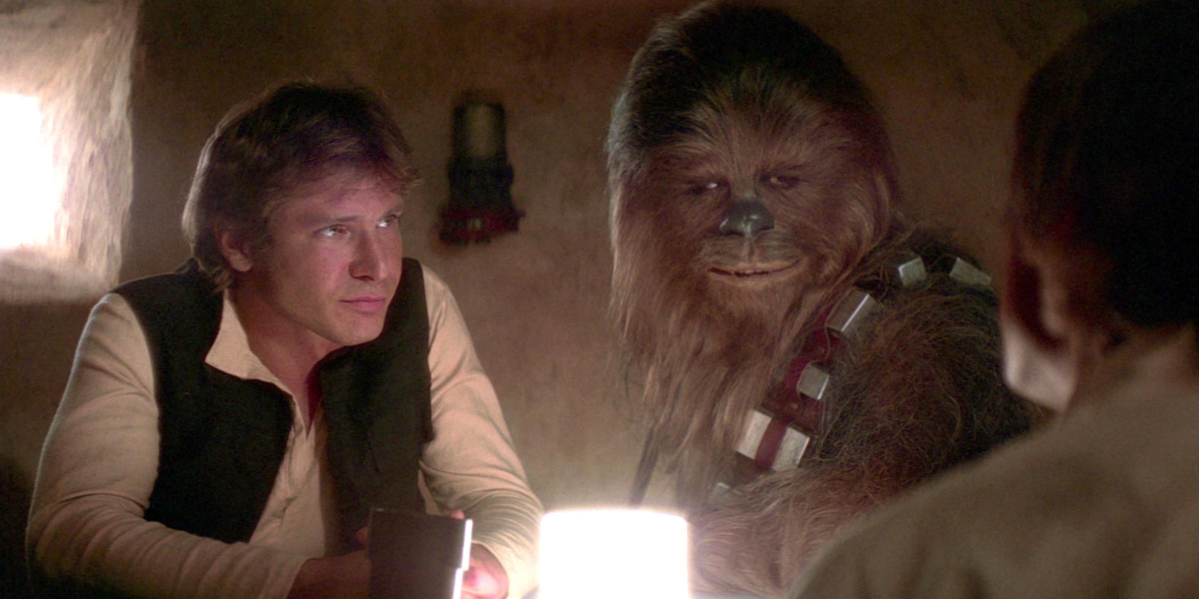 Resultado de imagem para star wars episode 4 han solo and chewbacca