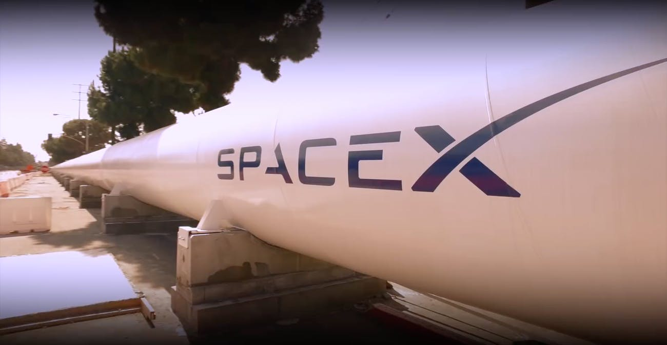 SpaceX's current hyperloop tunnel.