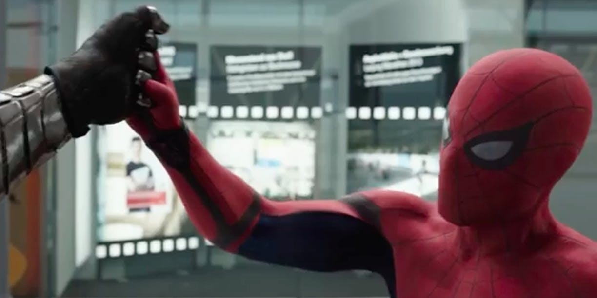 Spider-Man Fights the Winter Soldier in 'Captain America