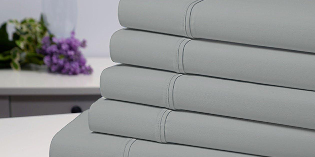 Bamboo Comfort 6-Piece Luxury Silver Sheet Set