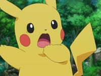 Pikachu is frightened