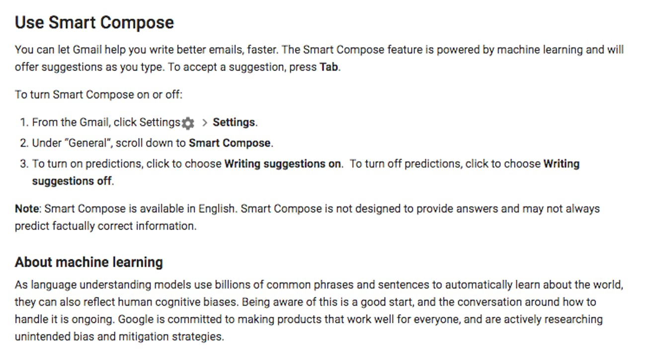 Smart Compose from Gmail