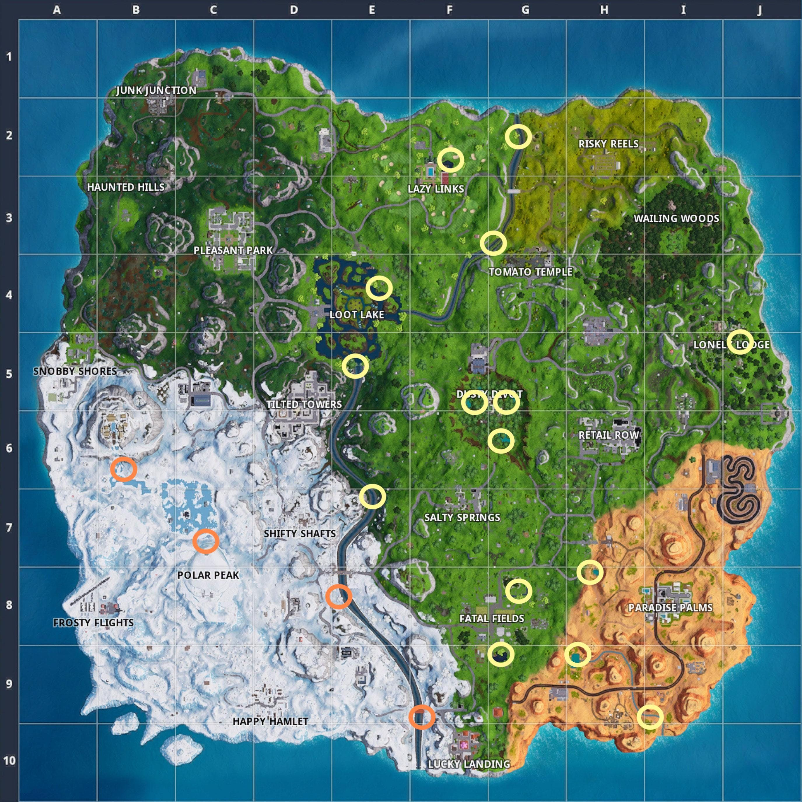 Fortnite 6 Waterside Goose Nests Locations To Complete The