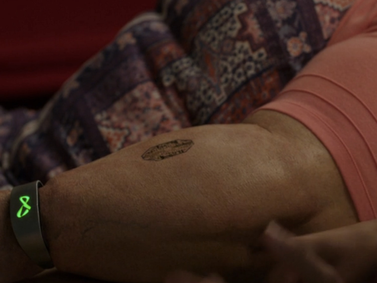 Data collected by the discreet black sensor on Melissa's arm is only useful if she knows what to do with it.