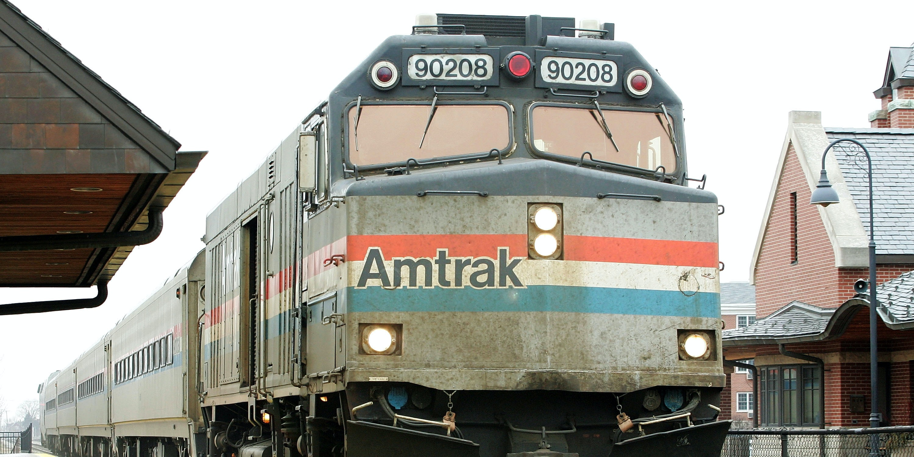 GLENVIEW, IL - FEBRUARY 8: Amtrak's Hiawatha train from Milwaukee, Wisconsin to Chicago arrives at the Amtrak station February 8, 2005 in Glenview, Illinois. U.S. Senator Dick Durbin (D-IL) has said Amtrak's passenger rail service could stop operating and effect 2,000 Illinois jobs if Congress agrees with U.S. President Bush's plan to cut the rail service's federal operating subsidy. Amtrak operates 50 trains daily through the state of Illinois.  (Photo by Tim Boyle/Getty Images)