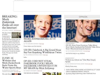 The Harvard Crimson Website is Flooded with Mark Zuckerberg Trolling