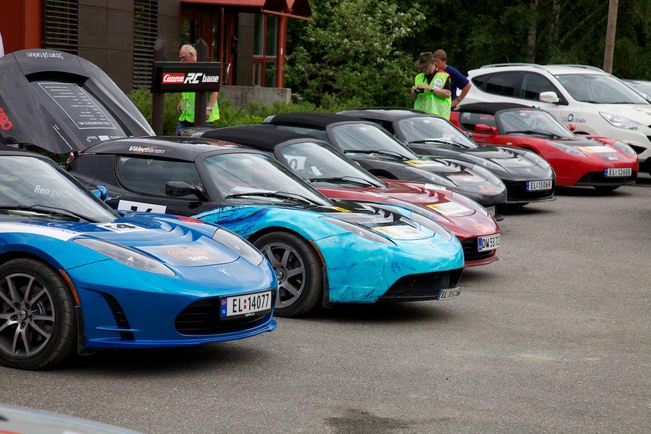 Tesla, Tesla, Tesla, Tesla, Tesla, Tesla, Hounday Hydrogen in Zero Rally 2011. Foto: Eirik Helland Urke