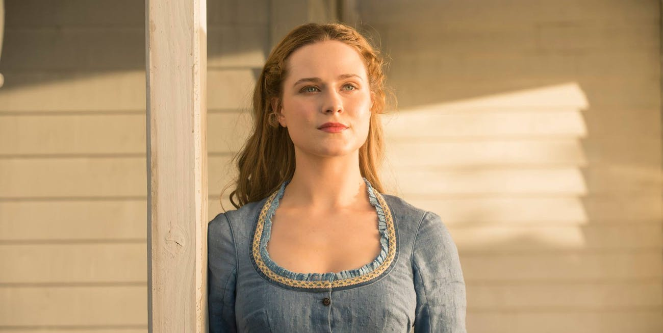 "Evan Rachel Wood as Dolores in HBO's ""Westworld"""