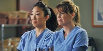 Dr. Christina Yang, Dr. Meredith Grey on 'Grey's Anatomy'.