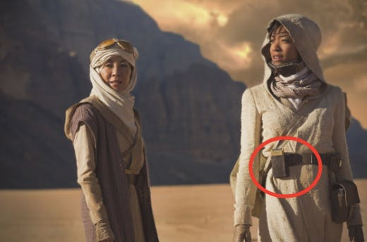 The first 'Star Trek: Discovery' photo (classic communicator is circled).