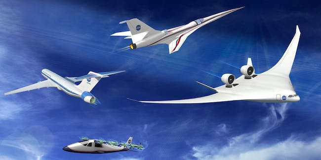 "Building a series of X-planes fueled by green energy, use half the fuel and are only half as loud, as well as the worlds first ""quiet"" supersonic X-plane, is part of the budget proposal."