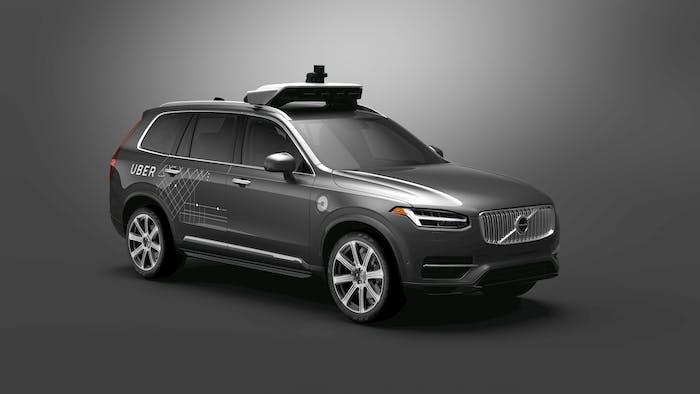 Uber's Volvo vehicle.