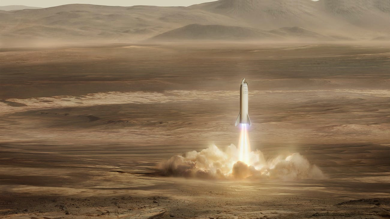 Starlink: SpaceX Internet Satellite Constellation Just Got the Green Light Spacexs-bfr-landing-on-mars