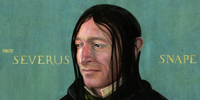 Severus Snape is a hybrid between Alan Rickman and the Harry Potter books