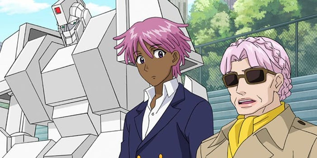 Kaz's robo-butler is a constant reminder of just how sci-fi 'Neo Yokio' is.