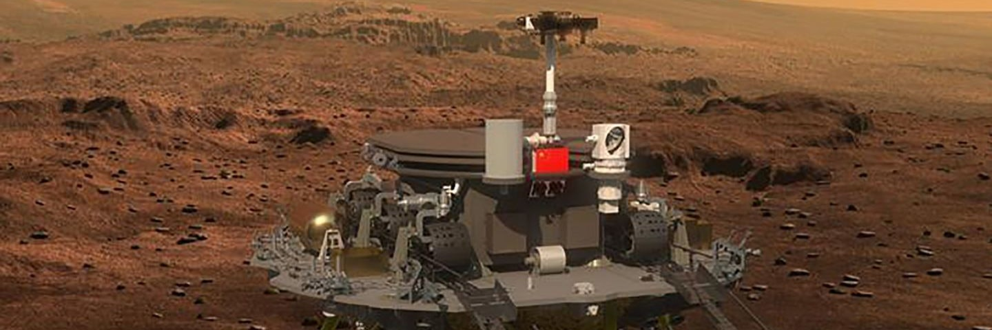An artist's impression show how China's Mars rover will look. The rover will study Mars' surface and underground environments.