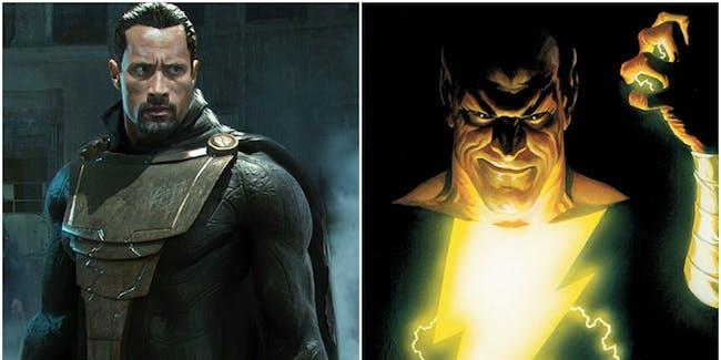 Dwayne Johnson in a fan photoshop of the actor as DC's Black Adam villain