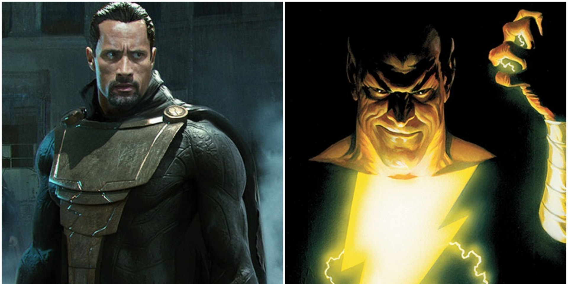Dwayne Johnson in a fan photoshop of the actor as DC's Black Adam villain
