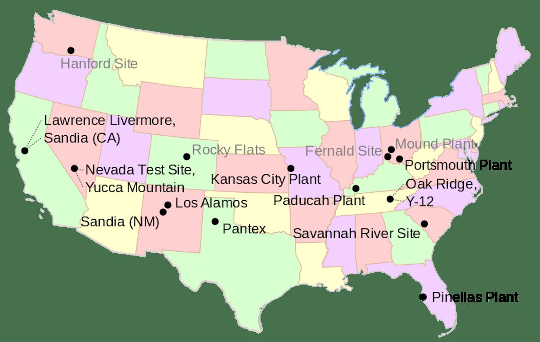 USA nuclear sites