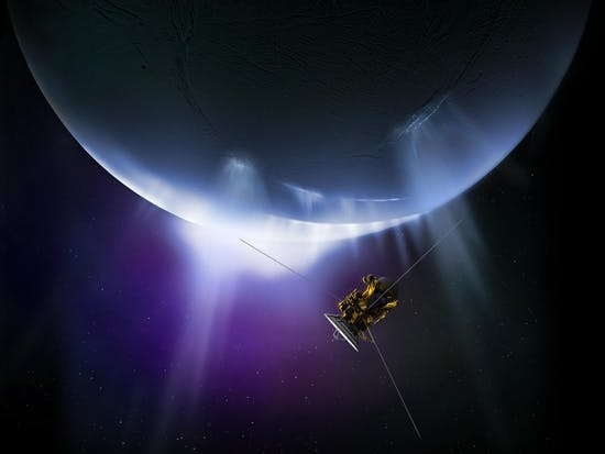 Cassini Spacecraft to Fly by Saturn's Icy Moon Enceladus for Final Time