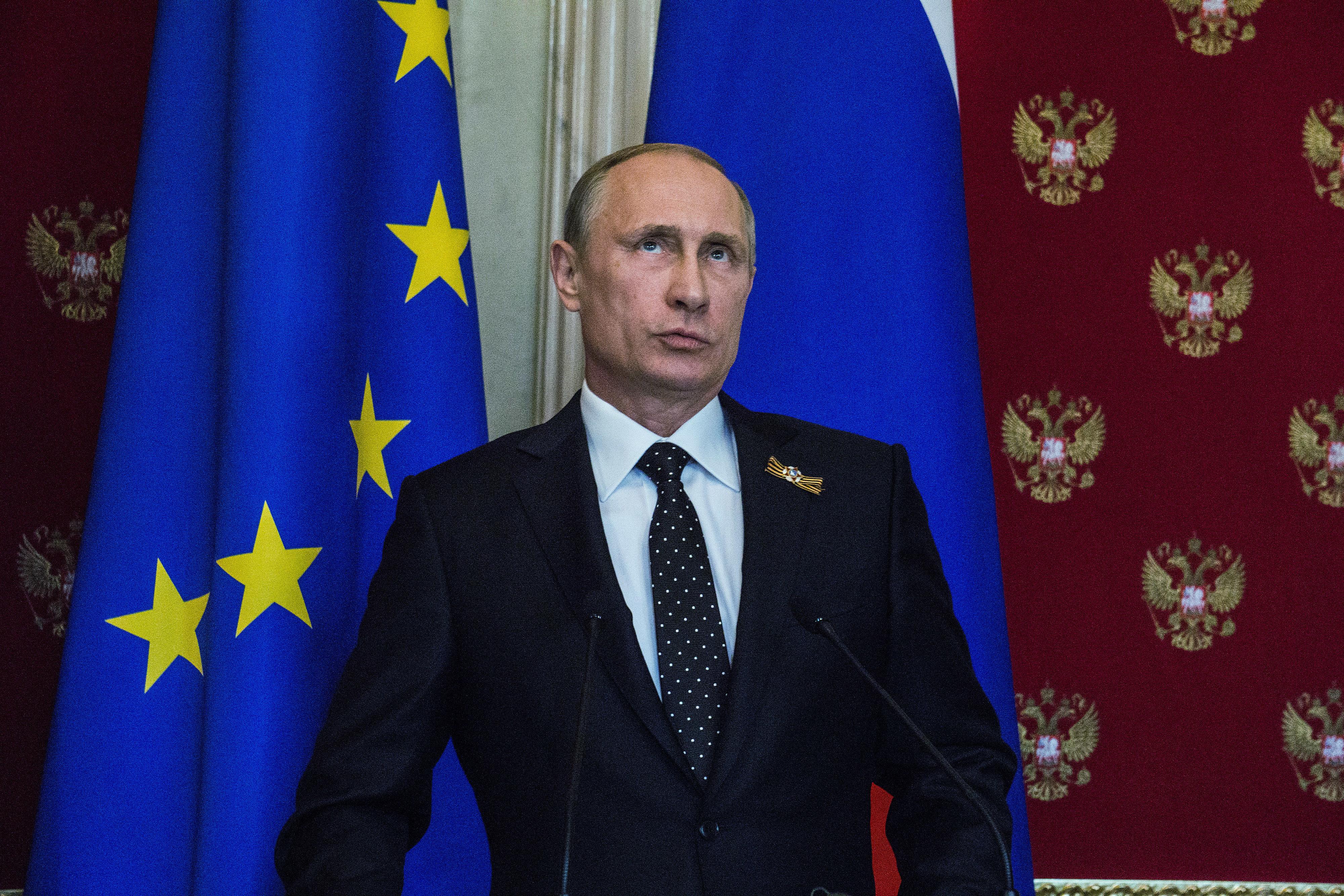 Russian President Vladimir Putin at the Kremlin.