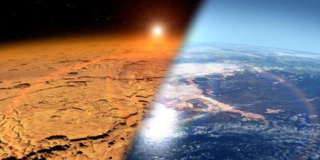 Mars then and mars now