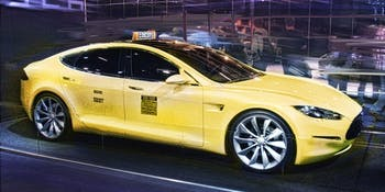 Tesla Model S as electric taxi
