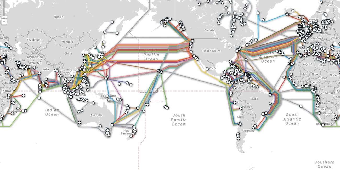 Map Shows Undersea Cable Locations That Are Critical for the Internet