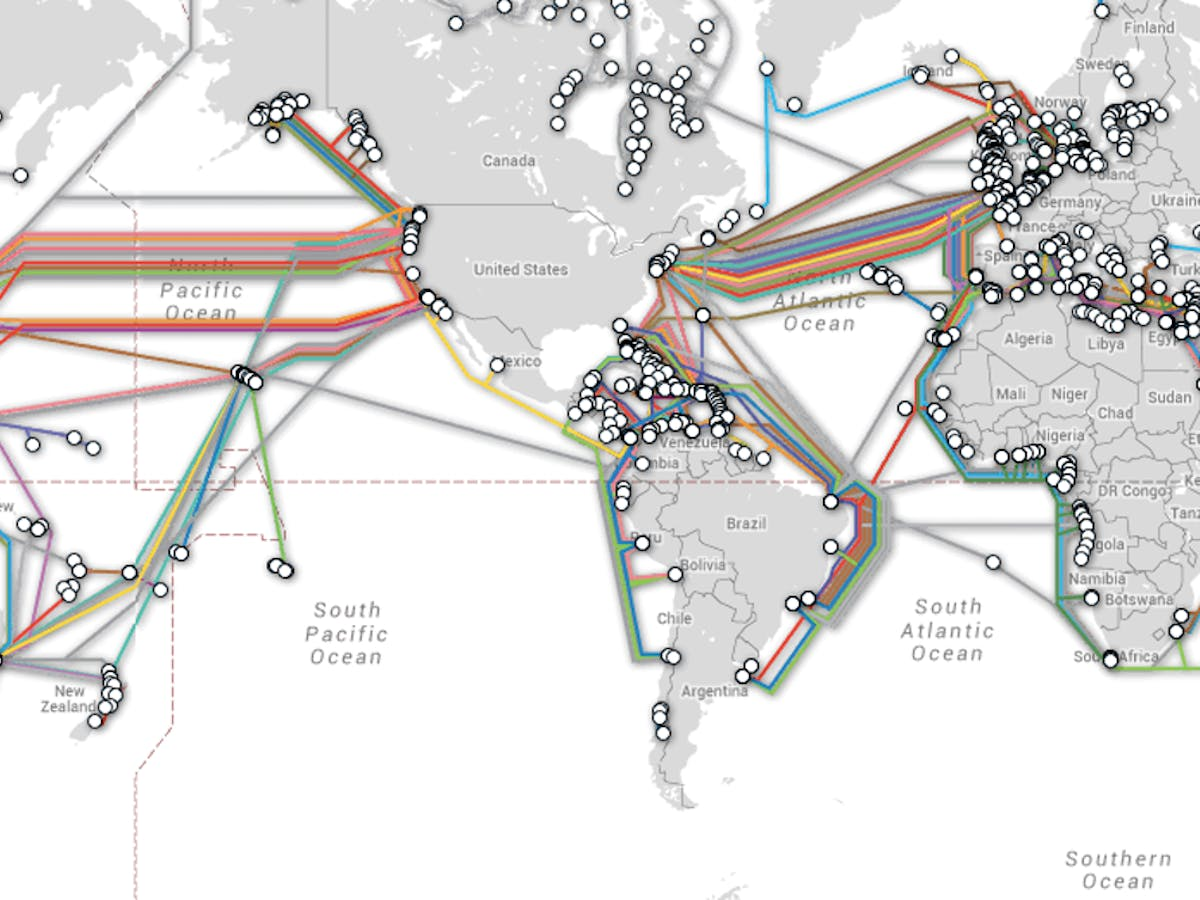 Map Shows Undersea Cable Locations That Are Critical For The - Level-3-us-fiber-map