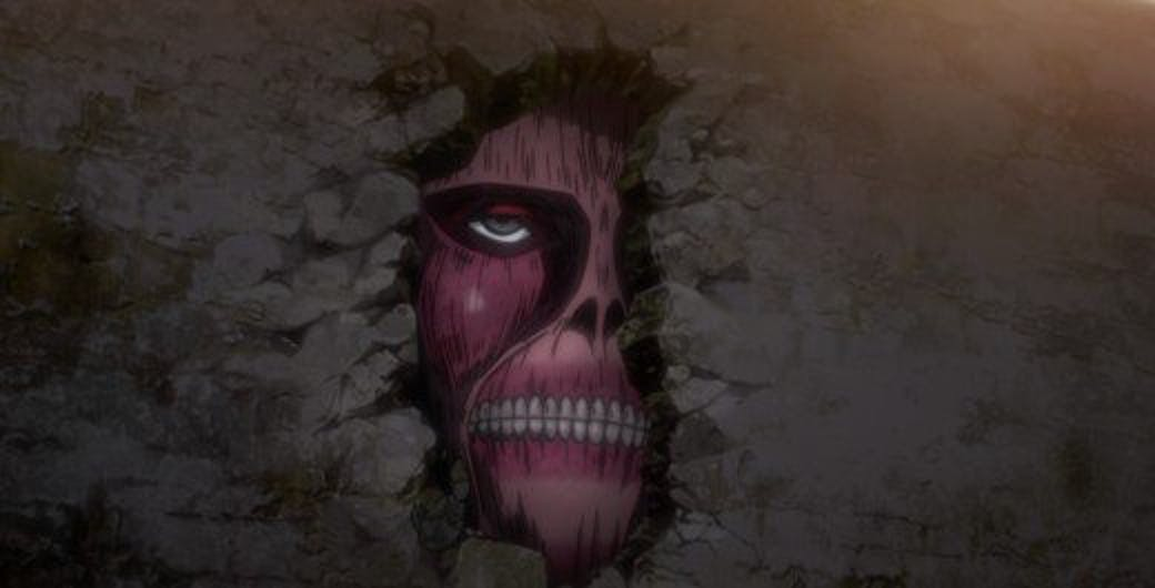 The Walls are built from the bodies of Titans in 'Attack on Titan'.