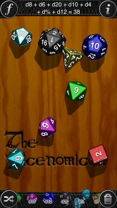 Look at all those dice! Look at 'em!