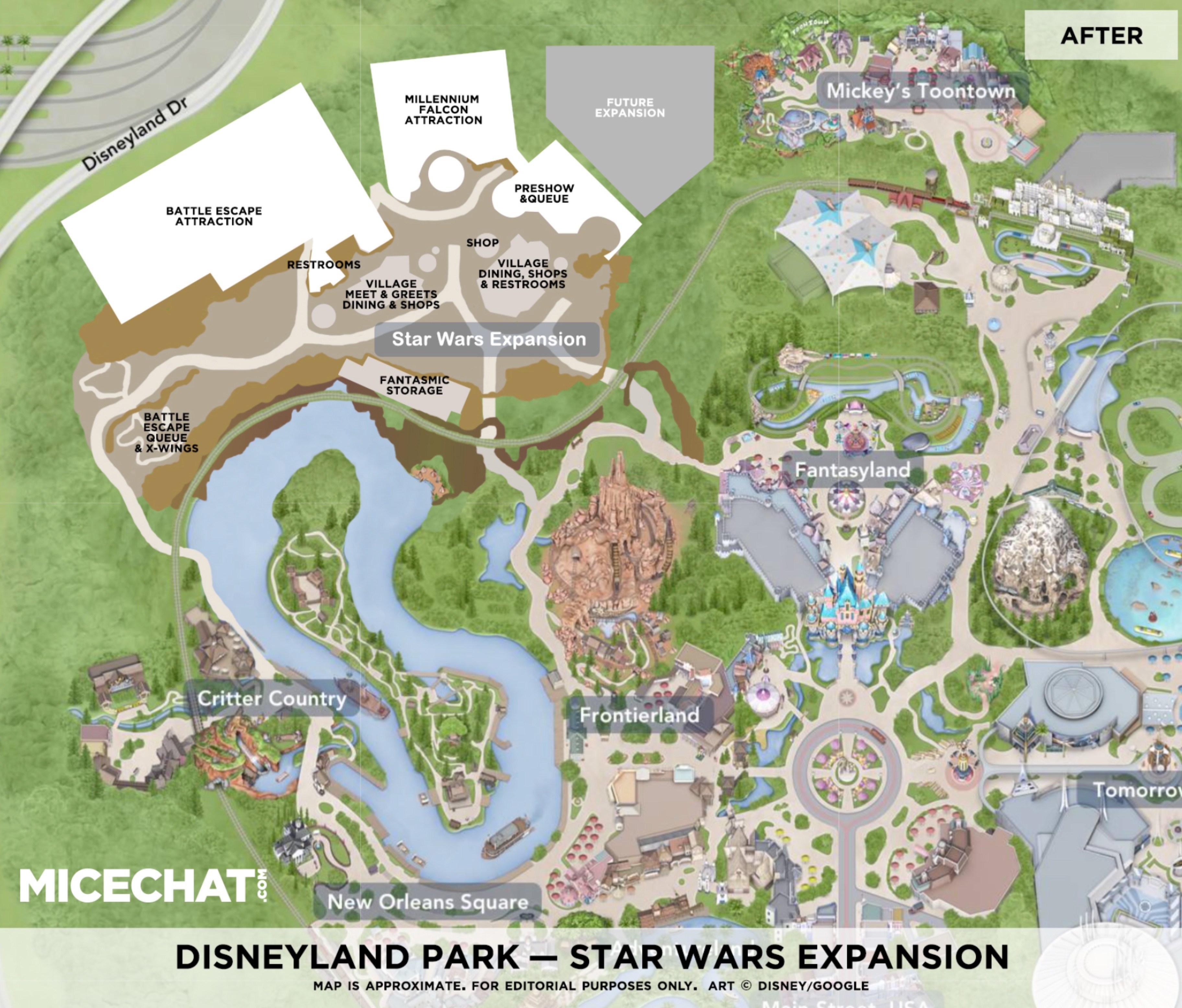 New Disney World Star Wars Land Map Art Reveals The Upcoming - Disneyland brazil map