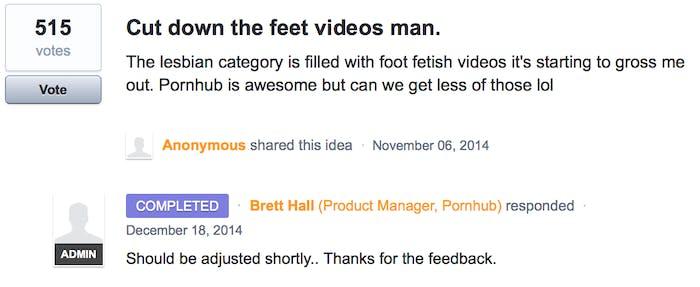 Cmon man! Less feet.