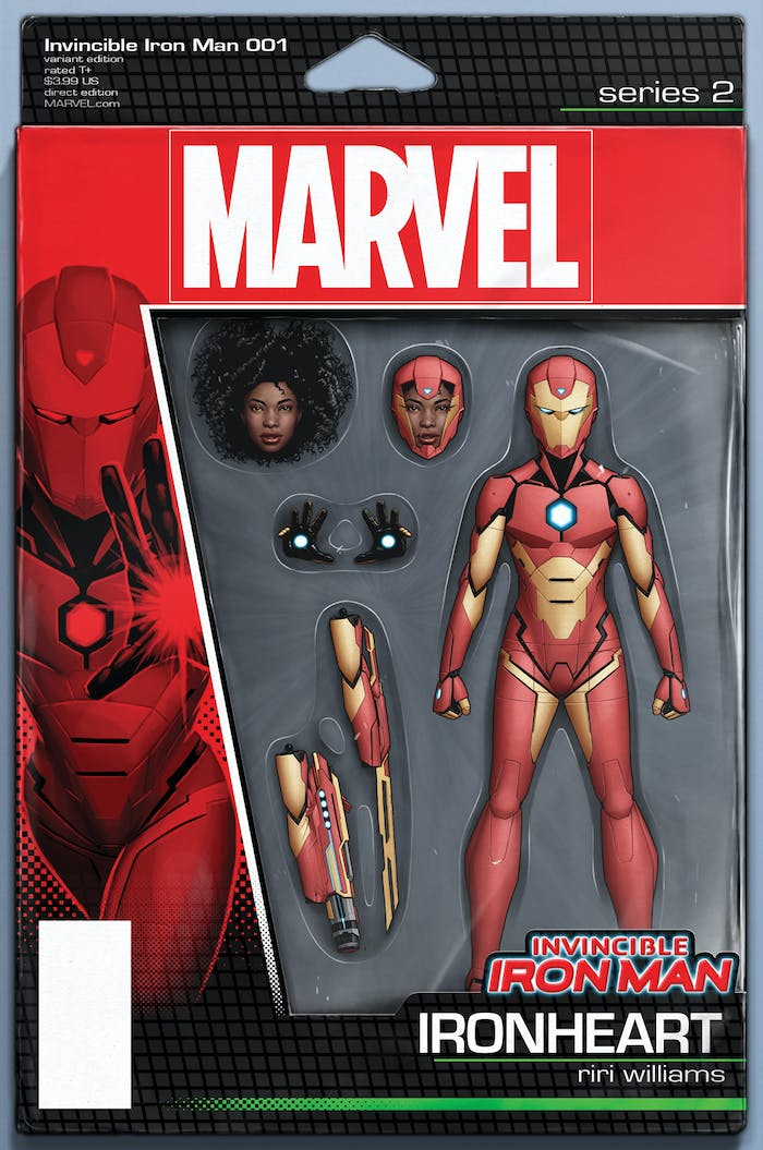 Riri Williams Iron Man Action Figure Cover