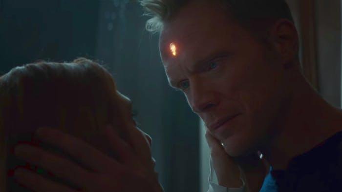 Wanda Maximoff (Elizabeth Olsen) and Vision (Paul Bettany).