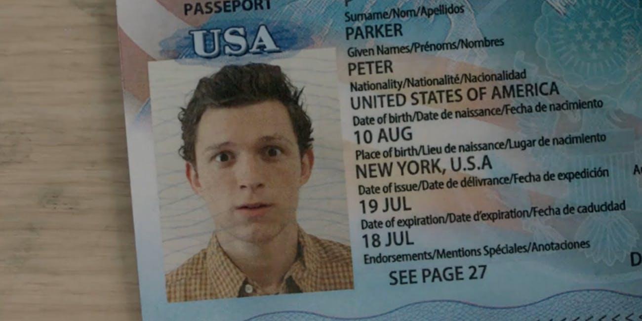 Spider-Man: Far From Home passport
