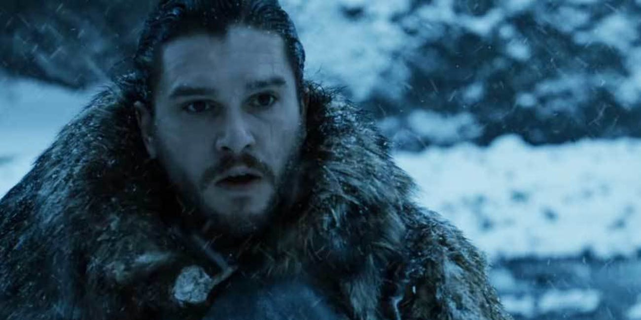 Jon does not look happy.