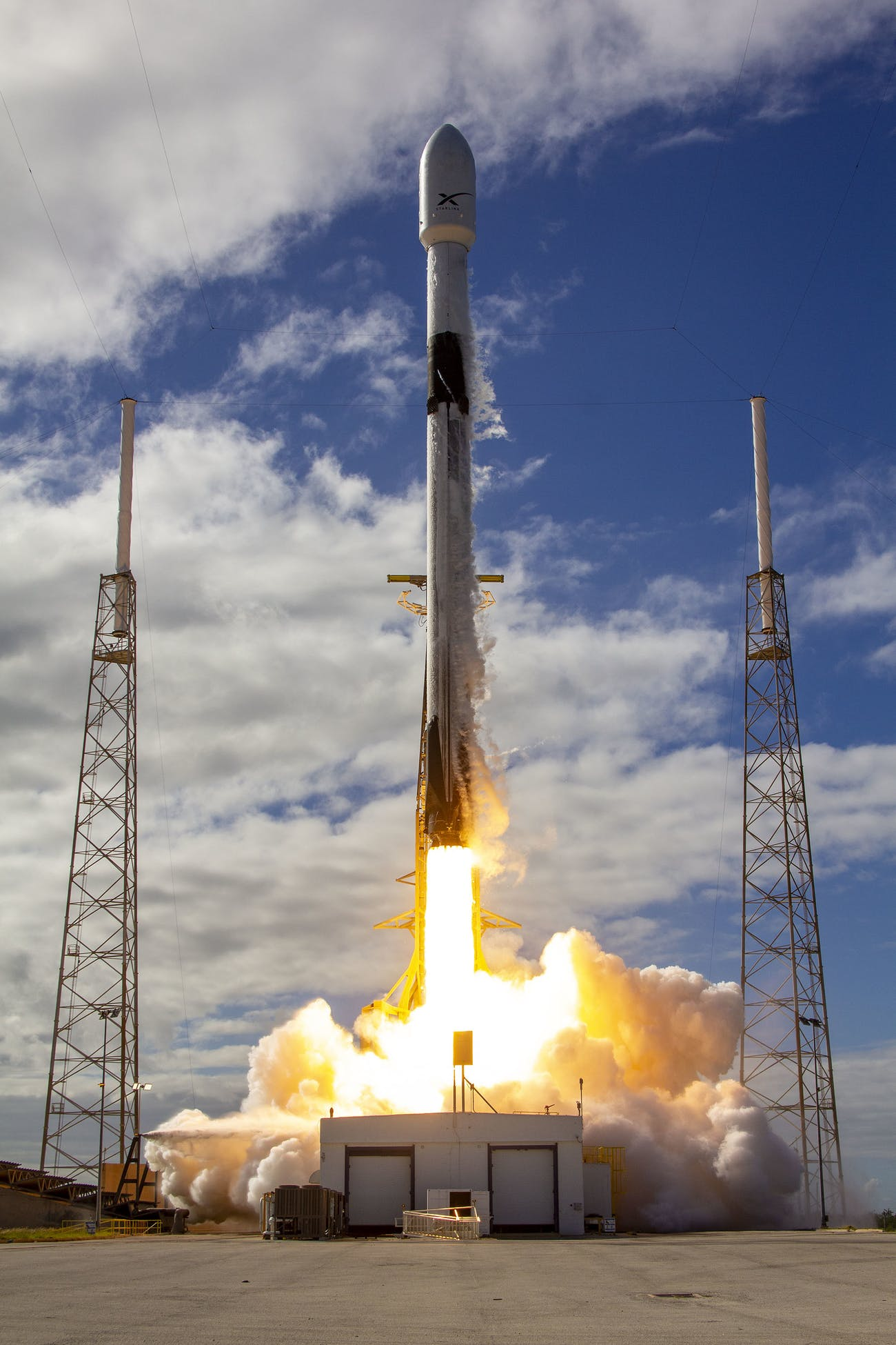 SpaceX's Starlink taking off.