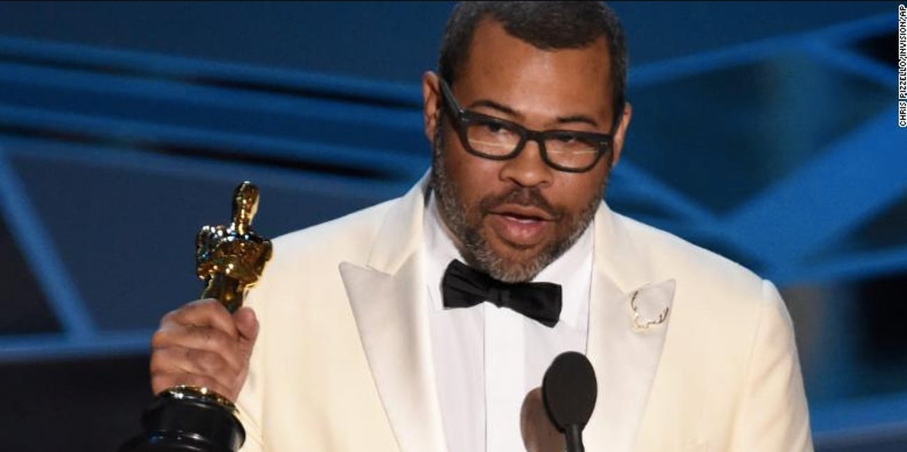 Jordan Peele won Best Original Screenplay with 'Get Out' at the 90th Academy Awards.