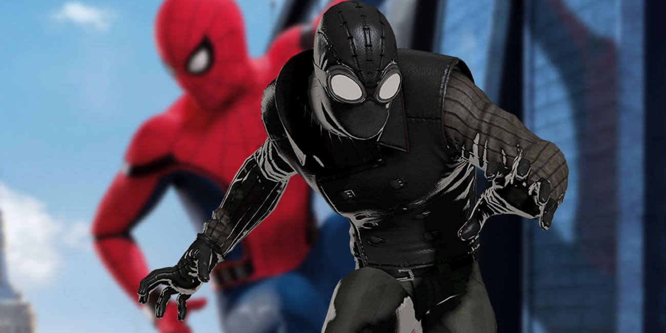 spider-man: far from home' set photos reveal noir-style stealth suit