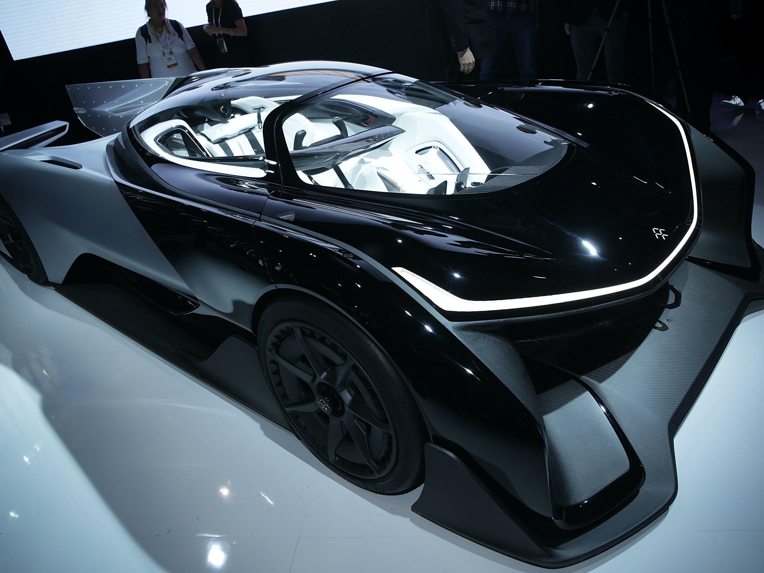 The Faraday concept car unveiled in January at CES.