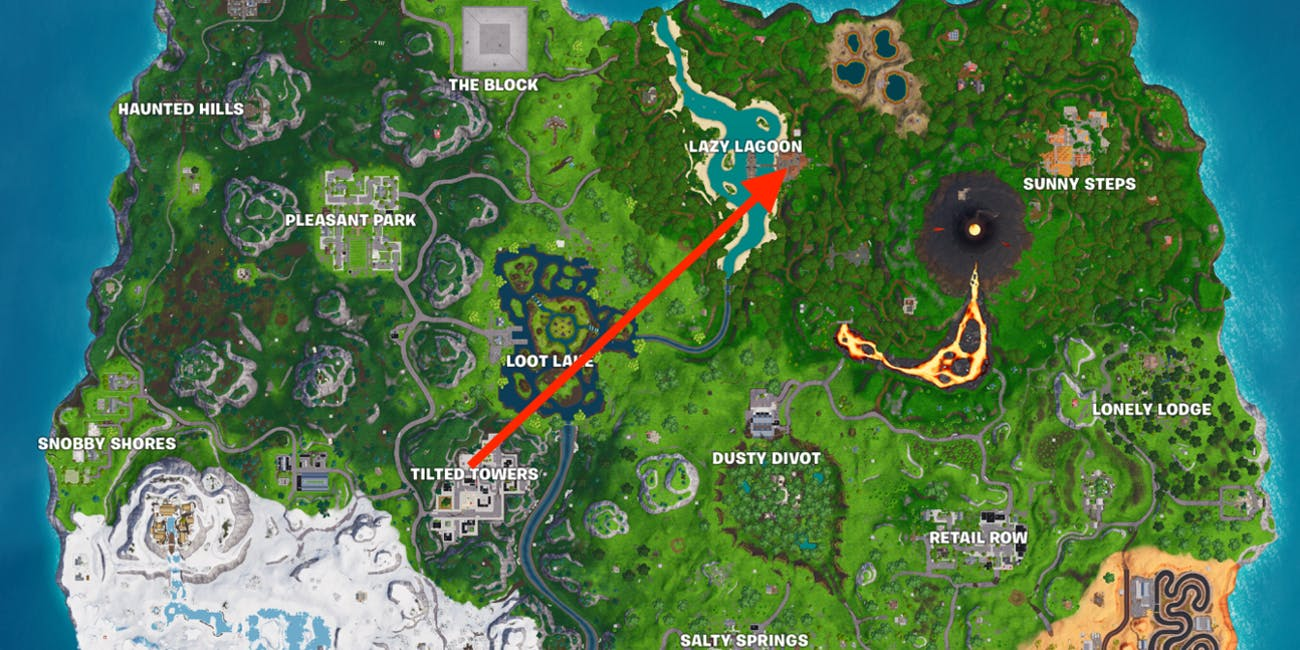 Fortnite Season 8 Week 1 Discovery Secret Battle Star Map
