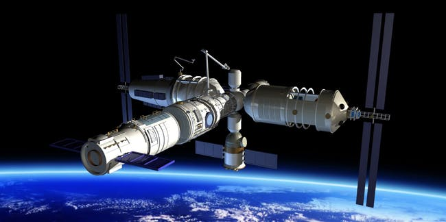 An artist's rendition of Tiangong-2