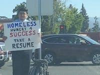 homeless resume twitter viral