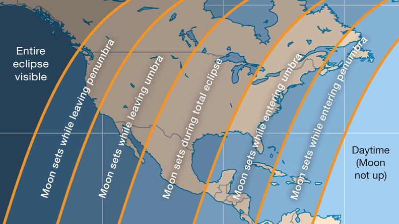 Lunar Eclipse Map The West Coast Will Have a Perfect View of January 31 Total Lunar  Lunar Eclipse Map