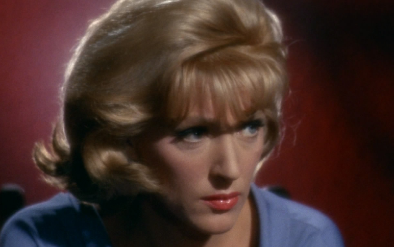 Majel Barrett as Nurse Chapel on the original 'Star Trek'