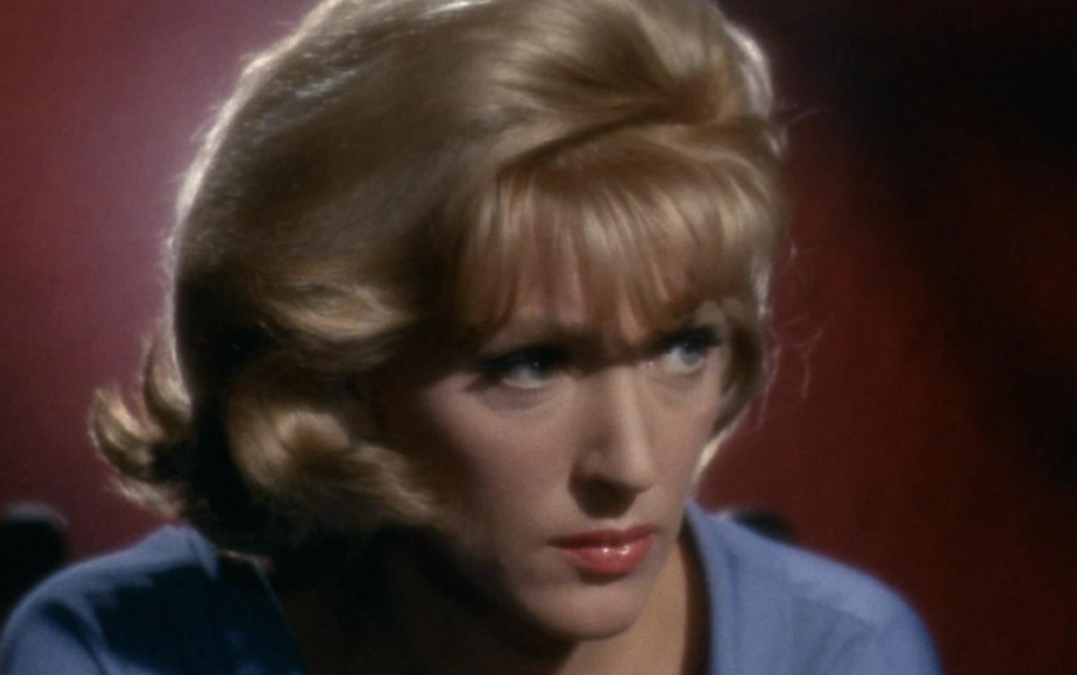 Majel Barrett as Nurse Chapel on the original 'Star Trek'