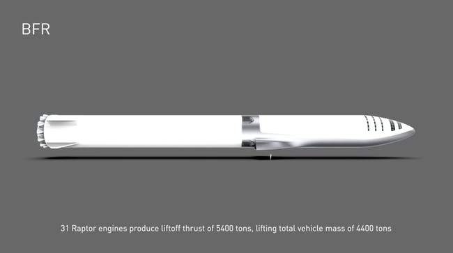Musk's BFR slide in its whole.