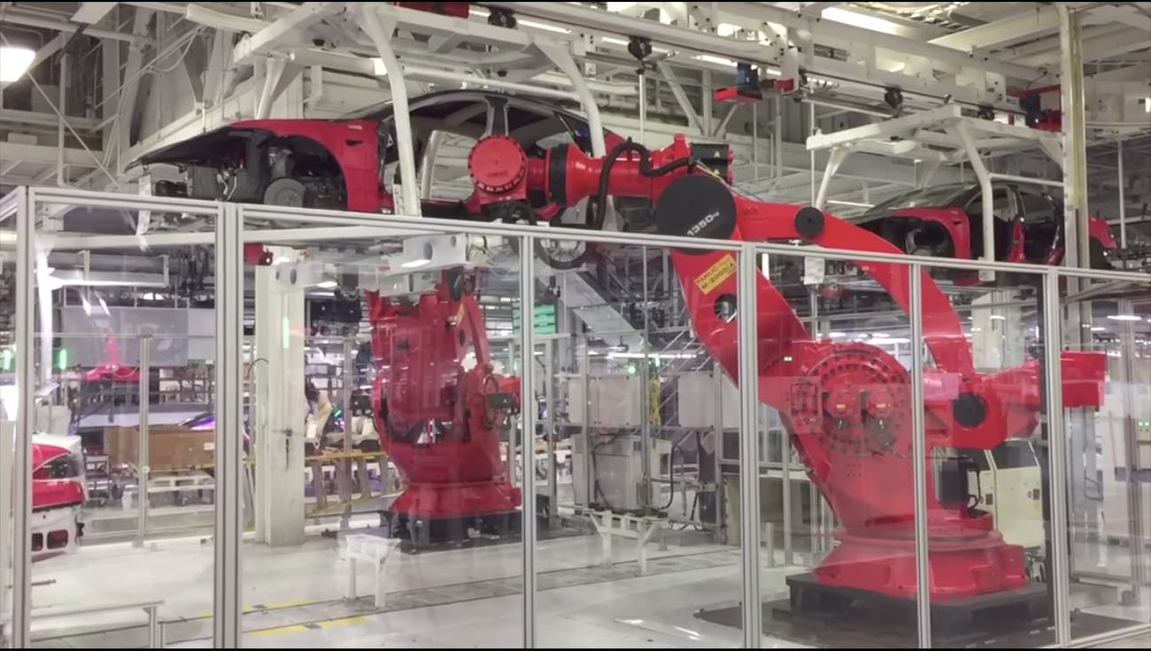 Tesla's factory in Fremont, CA.
